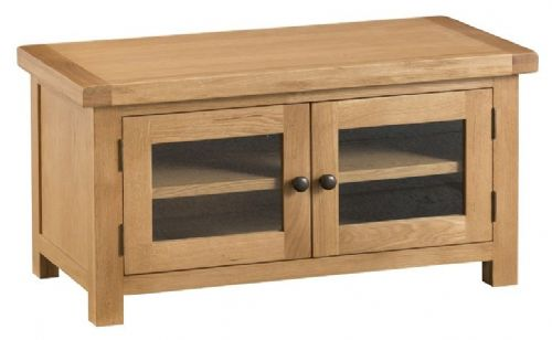 Chelmsford Oak 2 Door Glazed TV Unit